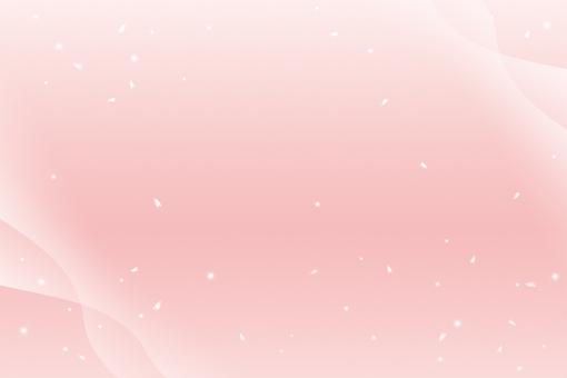 벚꽃의 꽃잎과 눈이 흩 날리는