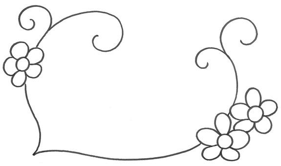 Flowering memos frame blossom memo