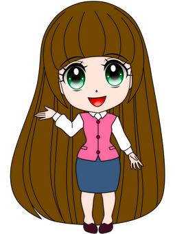 Deformed girl guidance girl