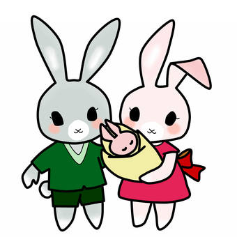 Rabbit parent and child 1