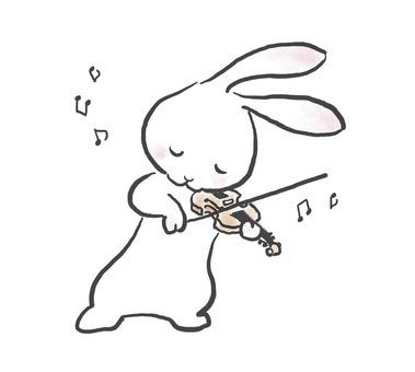 バイオリンうさぎ25