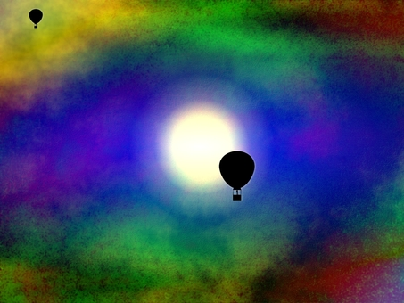 氣球和月亮E 0432
