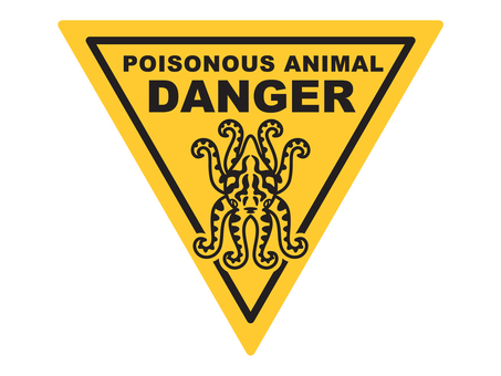 Leopard dagon warning sign B