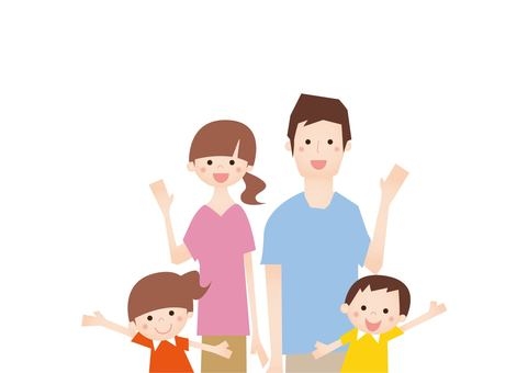 20160716 Summer family 4 people White