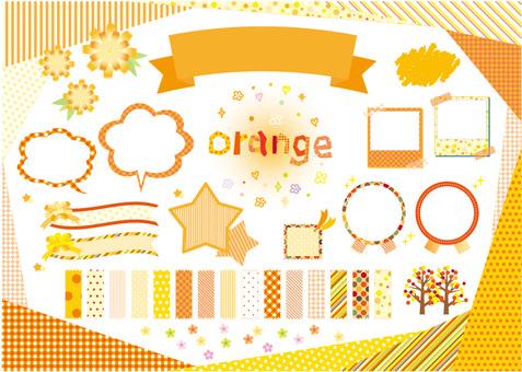 orange material pattern