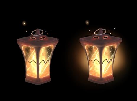 燈籠(與背景透明PNG)
