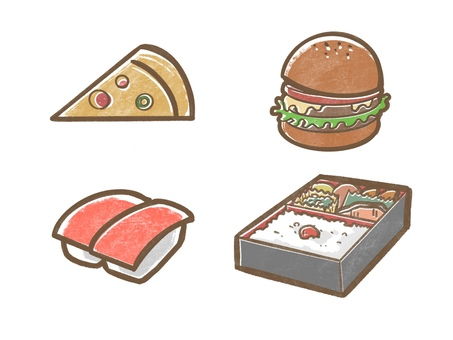 Delivery food icon illustration