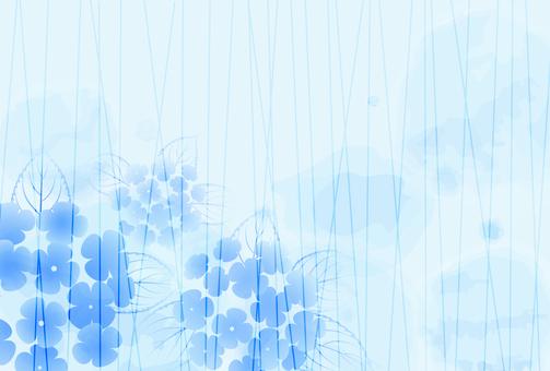 雨背景_紫陽花05