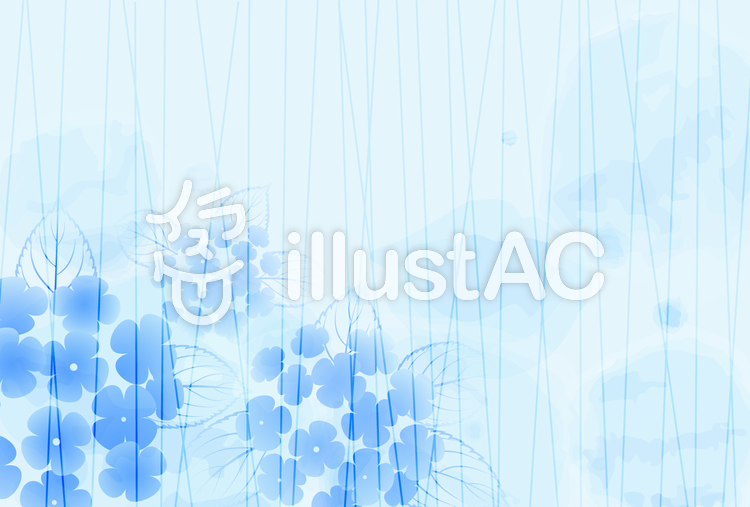 雨背景_紫陽花05のイラスト