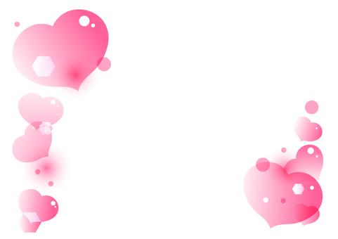 핑크 하트 프레임 프레임 장식 프레임