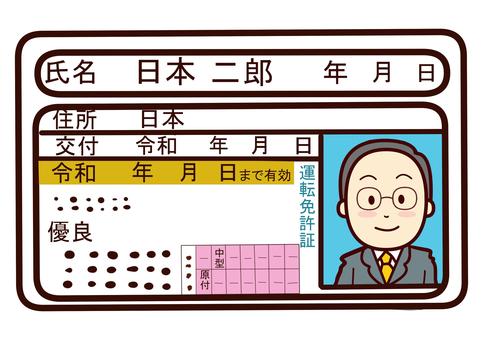 Excellent driver's license