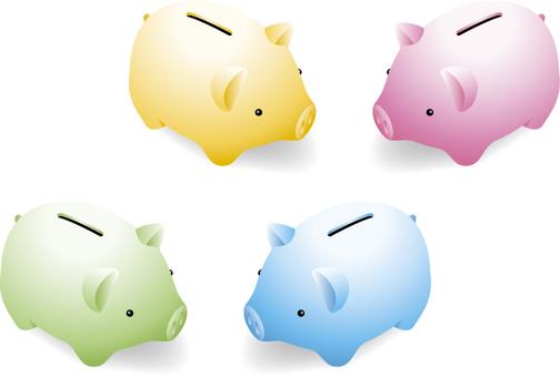 Colorful pig piggy bank 1