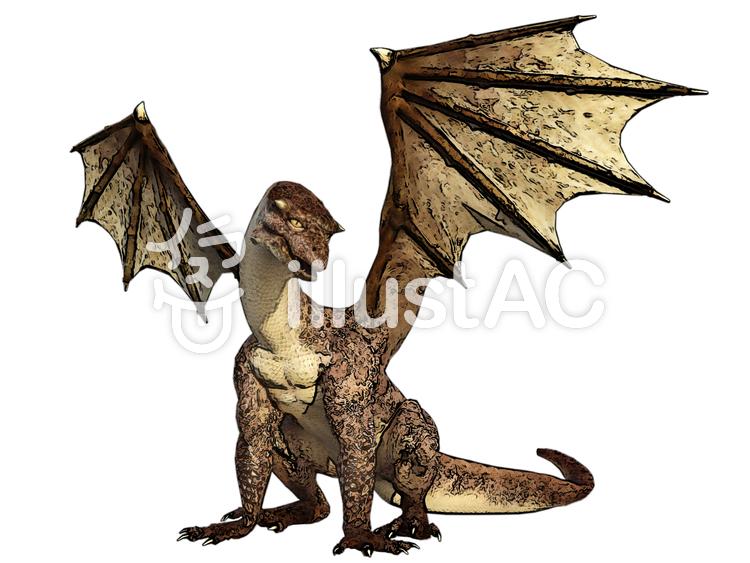 若いドラゴンのイラスト
