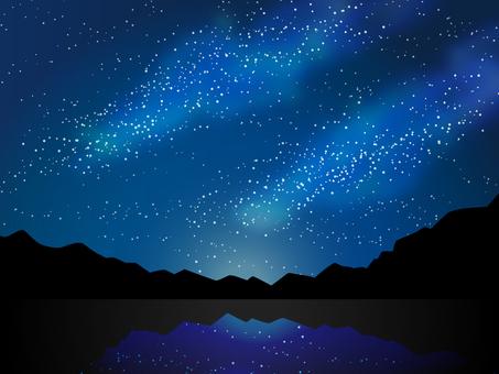 Starry sky of the sky Heavenly river Tanabata