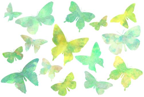 Watercolor butterfly postcard set