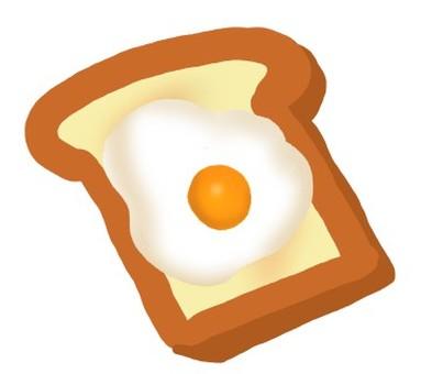 Fried egg in bread