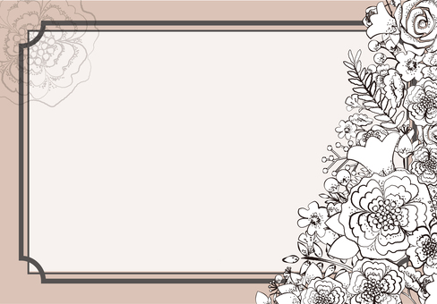 Flower decoration frame 9
