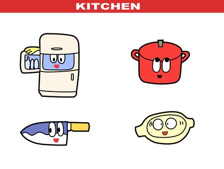 漫畫風格 - 廚房套