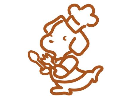 Dog chef character illustration
