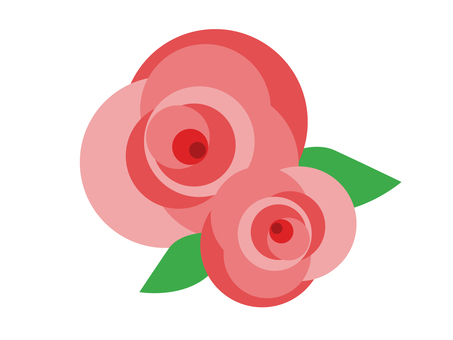 Simple rose flowers