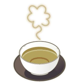 Hojiji tea with steam