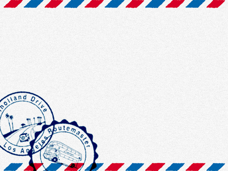 Decorative frame (Air Mail style) White 2