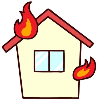 House fire illustration