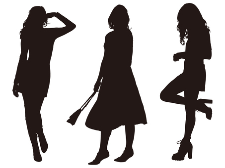 Female silhouette (fashion 011)