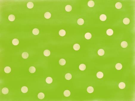 Dreaming polka dots green