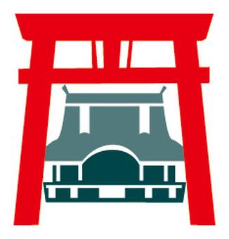 切割圖片式神社(彩色)