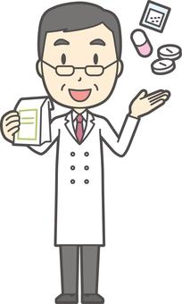中年男性医師-362-全身