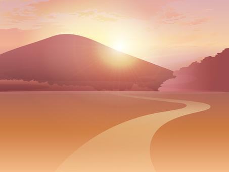 Mountain scenery · sunset