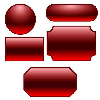 Translucent button frame set red