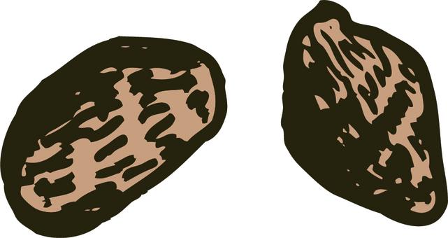 Hand-drawn style taro