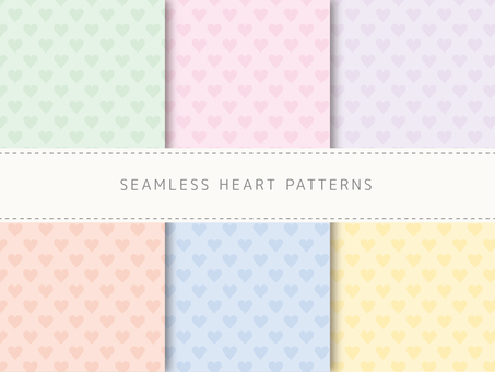 Heart pattern swatch set for background