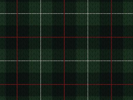 Knit material of tartan check