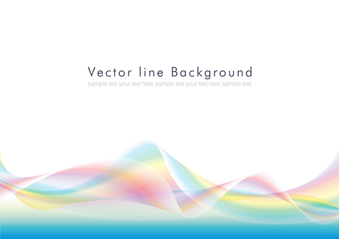 Vector abstract background rainbow 03
