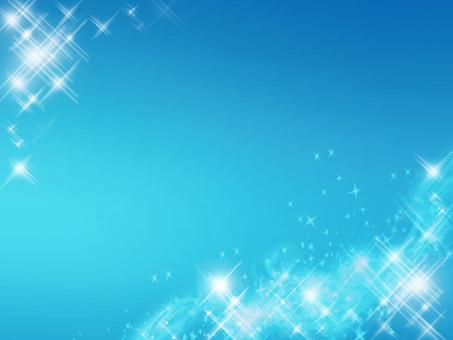 Sparkling background frame blue
