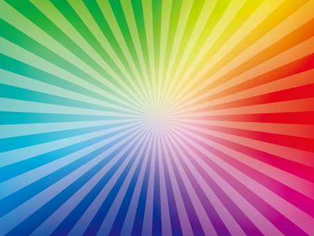 Rainbow-colored radial background (fine)