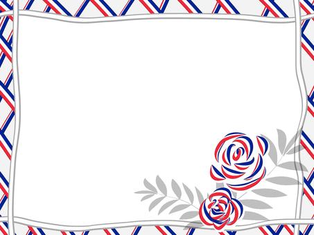 Tricolor frame (rose)