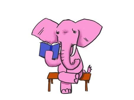 大象讀一本書