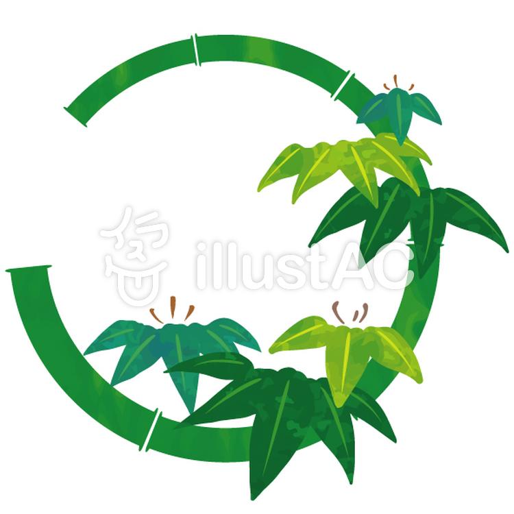 花丸紋様(竹)のイラスト