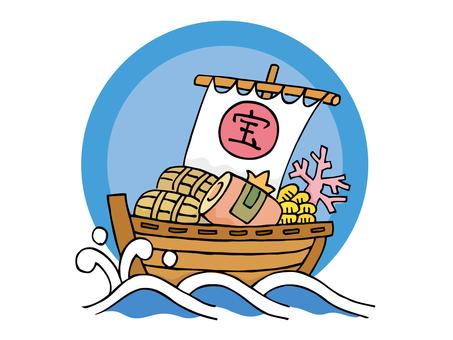 Waves and treasure ships