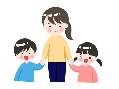 幼兒園的老師和孩子們