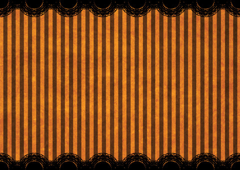 Halloween Striped Lace Background Orange