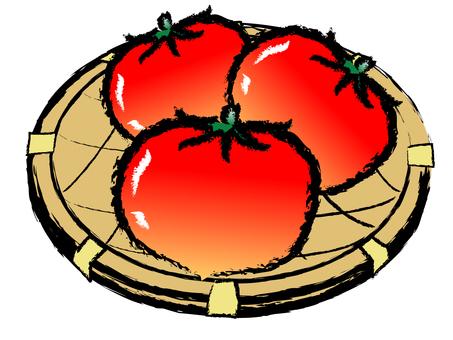 Handwriting Wind Summer vegetables Tomato