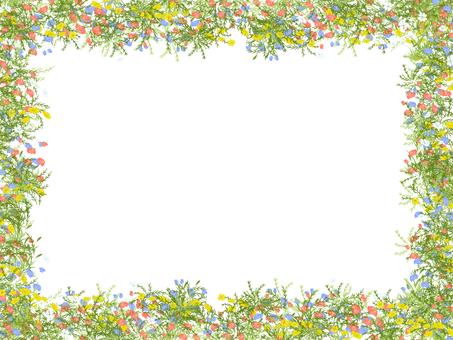 꽃밭 프레임