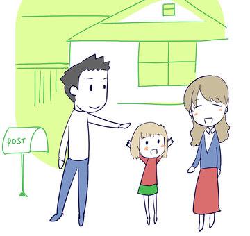 My Home and Papa Mama 3 Girls Family