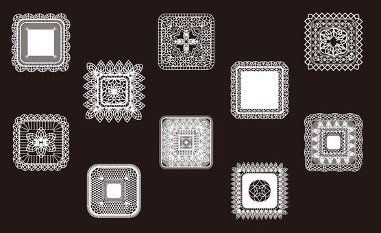 Lace Small Square Square Set 1