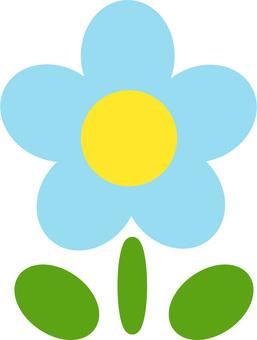 꽃의 일러스트 (하늘색)